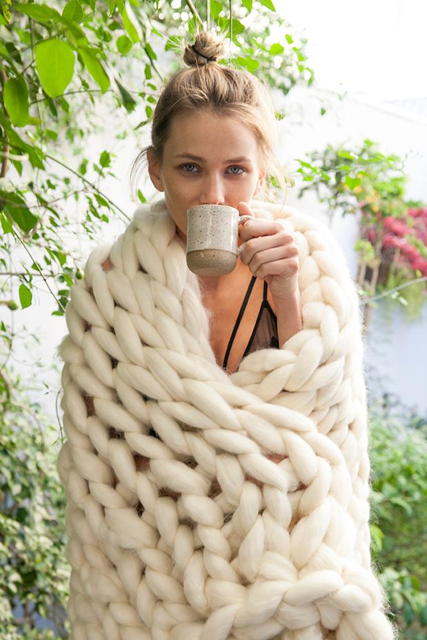 maxi manta lã